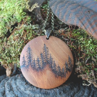 Wood Burnt Timber Art